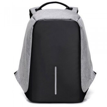 mochila antirrobo gris